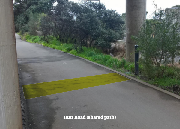 Hutt rd shared path
